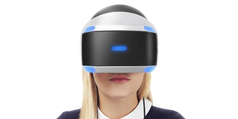 image of woman wearing VR goggles